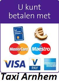 Betalen met pin,creditcard en American Express bij Taxi Arnhem